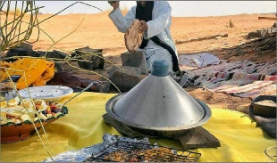 Merzouga Berber cooking,traditional cooking in Merzouga desert in Morocco